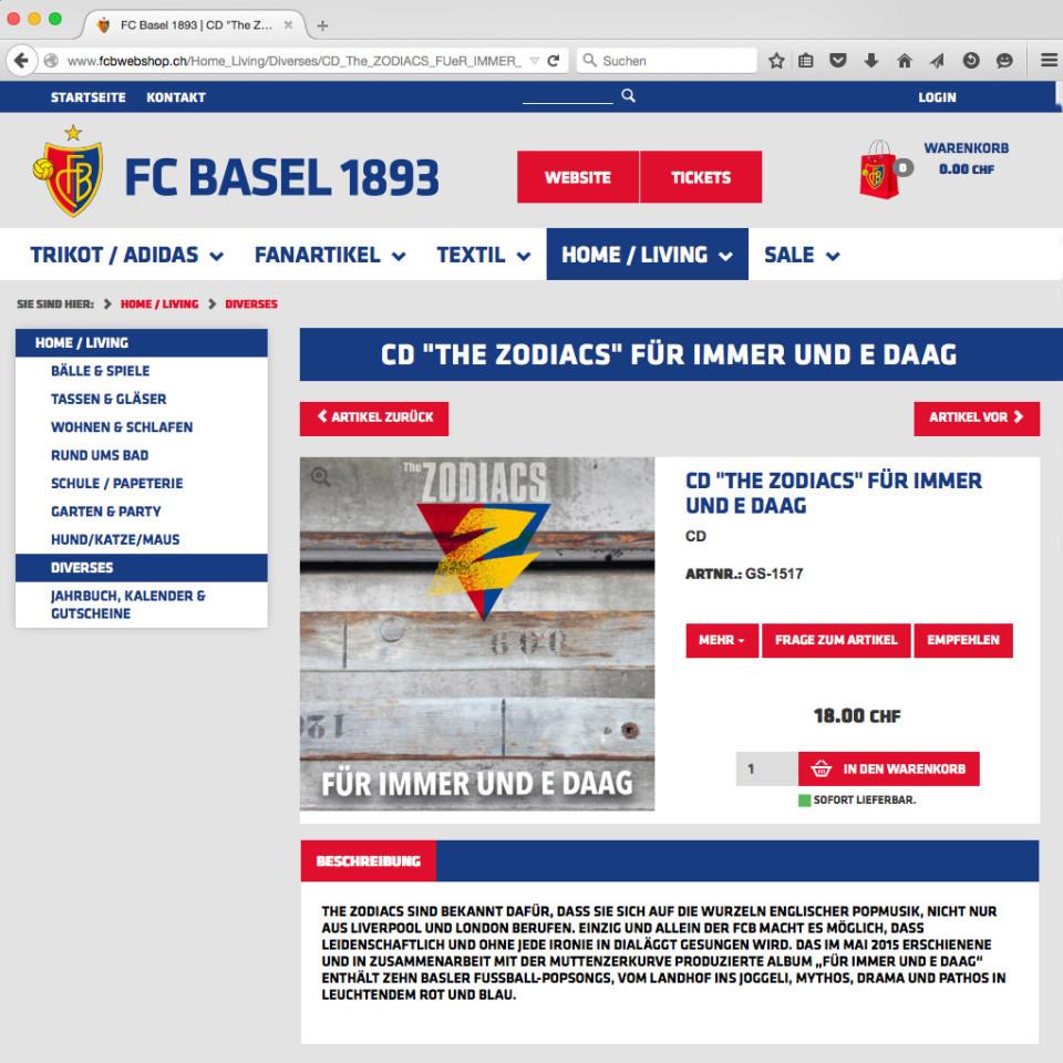 The Zodiacs - Für immer und e Daag im offiziellen FCB-Fanshop